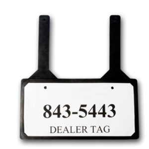 Demo License Plate Holders