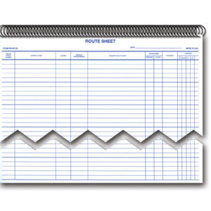 Service Dispatch, Route, Appointments Sheets