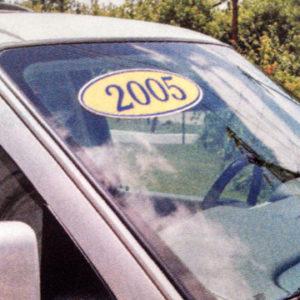 Oval Year Window Stickers