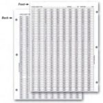 numbered check-off sheet