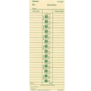 Time Clock Cards
