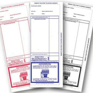 Pre Printed Stock Addendum Stickers