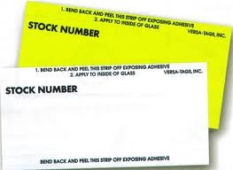 Stock Number Mini Signs