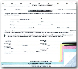 Trade In Vehicle Combination Form