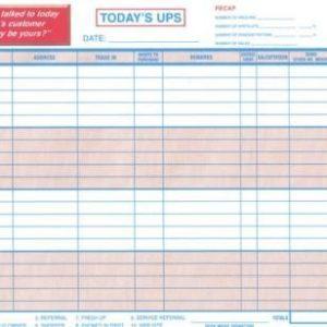 UPS Log Book Customer Contact Log