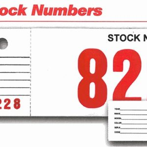 Vehicle Stock Numbers