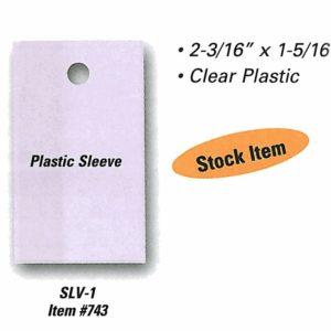 Vehicle Stock Numbers Plastic Sleeve