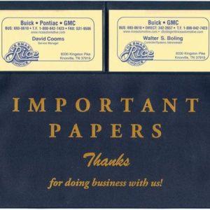 Vinyl Document Wallets