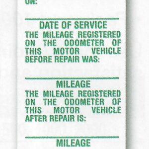 Odometer Repair Label