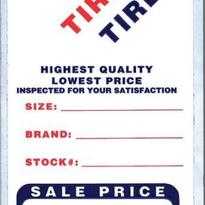 Tire Advertising Labels