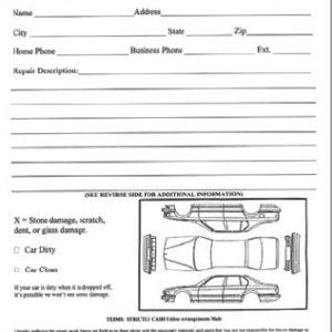 Vehicle Inspection Worksheet