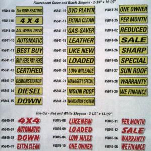 Slogan Window Stickers