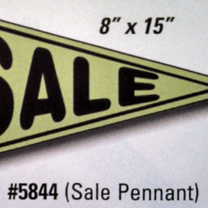 Advertising Window Sticker Sale Pennant