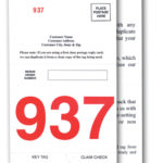 Red Three Digit Five Part Dispatch Numbers