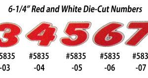 Number Window Stickers