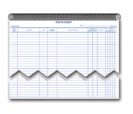 Service Dispatch Route Appointments Sheets