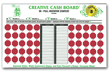 Incentive Cash Boards