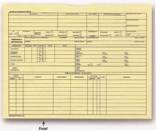 Employee File Jacket