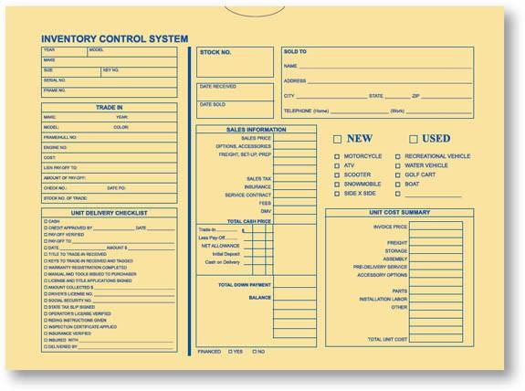 Inventory Control Deal Envelope