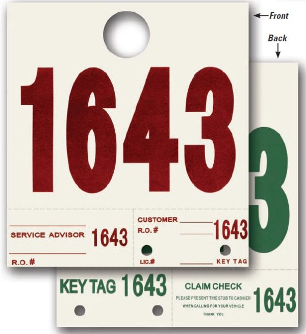 Heavy Stock Side Padded Dispatch Numbers