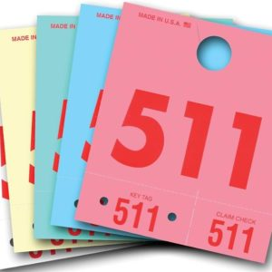 Colored Dispatch Numbers Key Tags