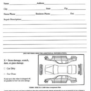 Vehicle Inspection Worksheet